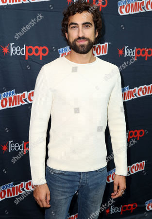 """Gregg Chillin, from the STARZ original series """"Da Vinci's Demons"""", poses for a photo at New York Comic Con on in New York"""