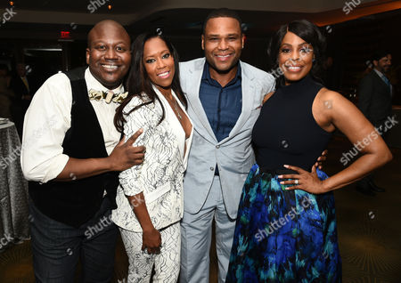 Titus Burgess, from left, Regina King, Anthony Anderson, and Niecy Nash attend the Television Academy's 67th Emmy Awards Performers Nominee Reception at the Pacific Design Center on Saturday, Sept.19, 2015, in West Hollywood, Calif