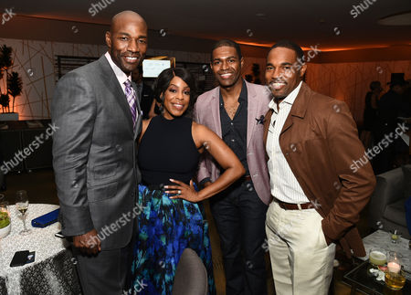 Jay Tucker, from left, Niecy Nash, Jarvis George, and Jason George attend the Television Academy's 67th Emmy Awards Performers Nominee Reception at the Pacific Design Center on Saturday, Sept.19, 2015, in West Hollywood, Calif