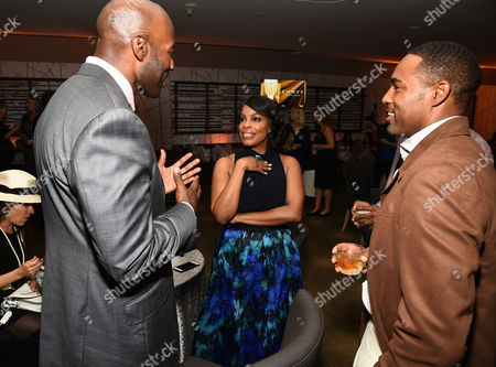 Jay Tucker, from left, Niecy Nash, and Jason George attend the Television Academy's 67th Emmy Awards Performers Nominee Reception at the Pacific Design Center on Saturday, Sept.19, 2015, in West Hollywood, Calif