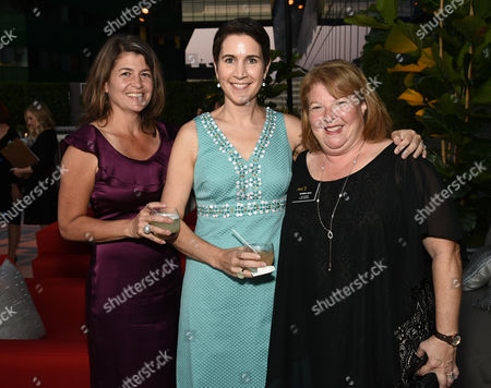 Brangien Davis, from left, Heather Cochran, and Barb Heldattend the Television Academy's 67th Emmy Awards Performers Nominee Reception at the Pacific Design Center on Saturday, Sept.19, 2015, in West Hollywood, Calif