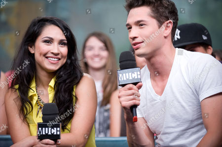 """Cassie Steele and Joe Dinicol visit New.Music.Live. at the MuchMusic HQ to promote the second season of """"The L.A. Complex"""", in Toronto"""