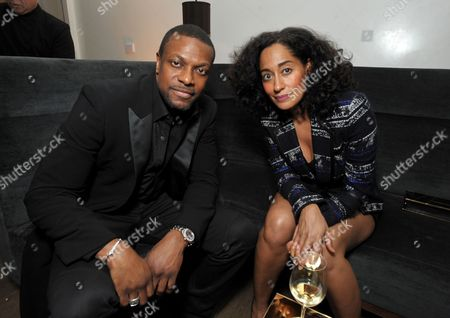Chris Tucker, left, and Tracee Ellis Ross attend The Hollywood Reporter Nominees' Night at Spago, in Beverly Hills, Calif