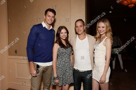 Pierson Fode, Noell Coet, Executive Producer Brian Robbins and Kelcie Stranahan attend the YouTube Channels AwesomenessTV and WIGS TCA Panel at the Beverly Hilton, in Beverly Hills, California