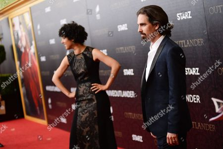"""Composer Bear McCreary and wife singer Raya Yarbrough attend the """"Outlander"""" Book Two World Premiere and After Party at the American Museum of Natural History, in New York"""