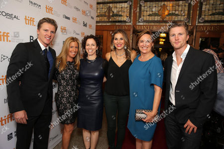 "Producer Trent Luckinbill, Producer Ellen Schwartz, Producer Kim Roth, Producer Molly Smith, Producer Karen Kehela-Sherwood and Producer Thad Luckinbill seen at Warner Bros. ""The Good Lie"" Premiere at 2014 TIFF, in Toronto"