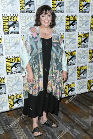 """Angela Cartwright attends the """"Lost in Space"""" press line on day 2 of Comic-Con International, in San Diego"""