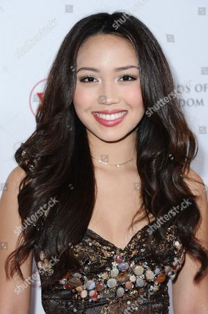 Thia Megia attends the 2015 Red Star Ball held at the Beverly Hilton Hotel, in Beverly Hills, Calif