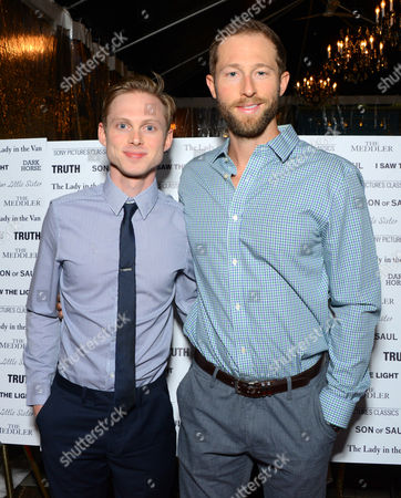 Stock Image of Joshua Brady, left, and Casey Bond attend Sony Pictures Classics party at Creme Brasserie, in Toronto