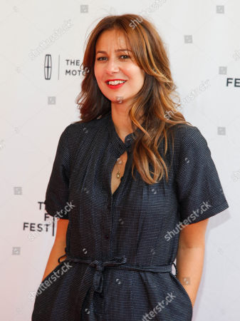 """Tess Morris attends the Tribeca Film Festival world premiere of """"Man Up"""" at the SVA Theatre, in New York"""