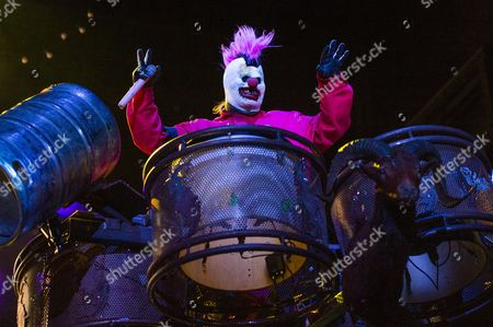 "Shawn ""Clown"" Crahan of Slipknot performs during day 2 of Ozzfest meets Knotfest at San Manuel Amphitheater, in San Bernardino, Calif"