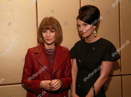 Stock Photo of Anna Wintour, left, and Marina Rust Connor attend The 35 Most Powerful People in Media hosted by The Hollywood Reporter at The Four Seasons Restaurant, in New York