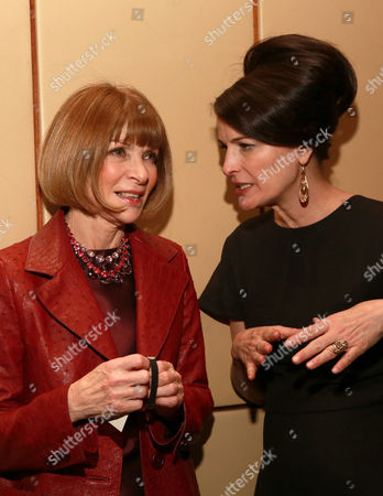 Anna Wintour, left, and Marina Rust Connor attend The 35 Most Powerful People in Media hosted by The Hollywood Reporter at The Four Seasons Restaurant, in New York