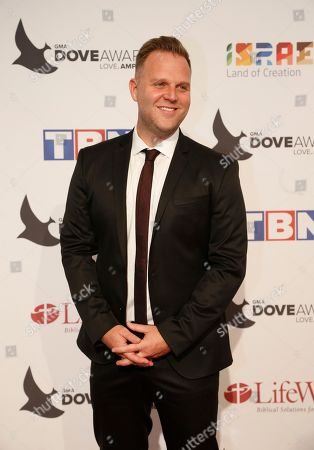 Matthew West poses for a photo at the 47th Annual GMA Dove Awards at Lipscomb University's Allen Arena, Nashville, Tenn