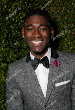 Kwame Boateng attends the FOX after party for the 71st Annual Golden Globes award show on in Beverly Hills, Calif
