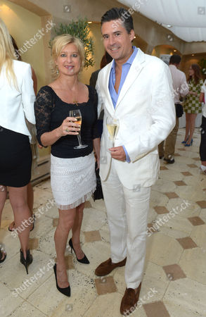 Alison Jackson and Ed Taylor attend An Evening of Dinner & Dancing at Daphne's,, in London