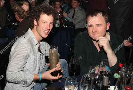 Sam Lee, left, seen at the Barclaycard Mercury Prize Albums of the Year awards 2012 at the Camden Roundhouse, in London
