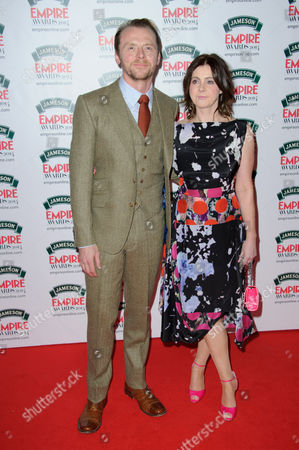 Simon Pegg and Maureen Pegg arrive for the Empire Awards at a central London venue, London