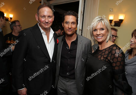 PREMIUM RATES APPLY Chairman of the MAC AIDS Fund and Group President, The Estee Lauder Companies Inc., John Demsey, Matthew McConaughey and MAC Cosmetics Global Brand President, Karen Buglisi Weiler attend the Focus Features and MAC Viva Glam celebration of Dallas Buyers Club, on in Los Angeles
