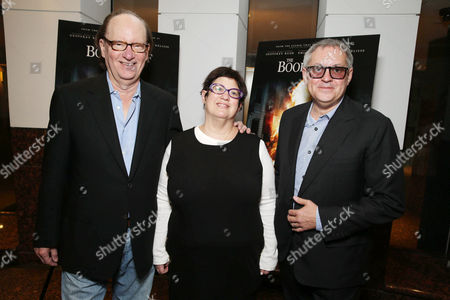 Producer Ken Blancato, Producer Karen Rosenfelt and Director Brian Percival seen at Fox 2000 Pictures special screening of 'The Book Thief' held at the Simon Wisenthal Center's Museum of Tolerance, on Saturday, Nov, 2, 2013 in Los Angeles