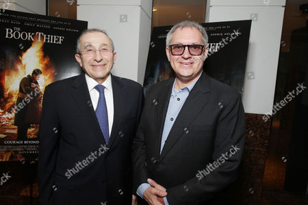 Dean and Founder of Simon Wisenthal Center Rabbi Marvin Hier and Director Brian Percival seen at Fox 2000 Pictures special screening of 'The Book Thief' held at the Simon Wisenthal Center's Museum of Tolerance, on Saturday, Nov, 2, 2013 in Los Angeles