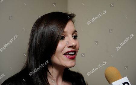 "Songwriter/producer and former ""American Idol"" judge Kara DioGuardi is interviewed at the Grammy's on the Hill Awards at The Hamilton on in Washington"