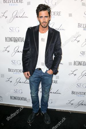 Brandon Beemer arrives at the Grand Opening Of Le Jardin, in Los Angeles