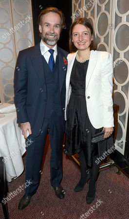 Marcus Wareing and Jane Wareing seen at the launch of the Johnnie Walker Blue Label Porsche Design Studio Collection at the Berkeley Hotel, in London