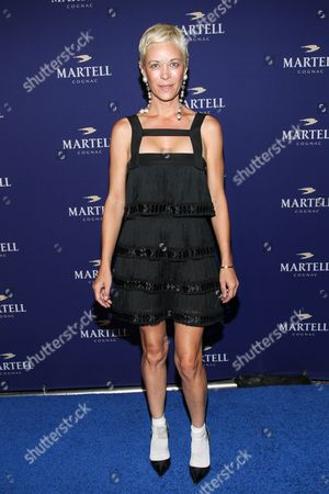 Angie Hill arrives at the launch for Martell Caractere Cognac at The Paramour Mansion on in Los Angeles