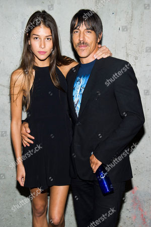 Anthony Kiedis and Helena Vestergaard attend the Edun collection, during Mercedes-Benz Fashion Week in New York