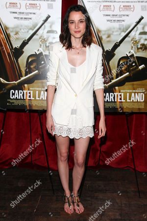 """Molly Thompson attends a special screening of """"Cartel Land"""" hosted by The Cinema Society at the Tribeca Grand, in New York"""