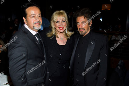"""Stock Image of Len Amato, from left, Linda Kenney Baden and Al Pacino attend the premiere after party for HBO's """"Phil Spector"""" on in New York"""