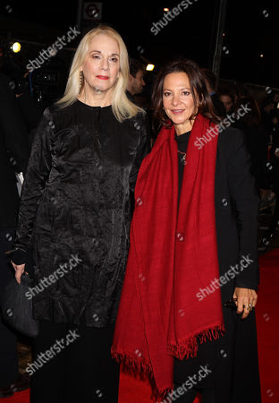 English Producers Carolyn Marks Blackwood and Gabriella Tana attending the UK Premiere of The Invisible Woman at the Odeon Kensington in London
