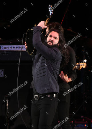 Stock Picture of Musician Ron Pope performs at The Music of David Bowie tribute concert at Radio City Music Hall on Friday, April, 1, 2016, in New York
