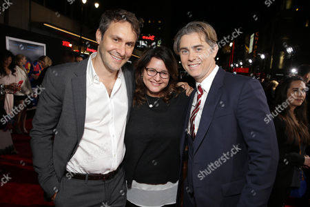 Producer Mark Sourian, Holly Bario, President of Production for DreamWorks and Producer/Writer John Gatins attend the US Premiere of DreamWorks Pictures 'Need For Speed' at The TCL Chinese Theatre in Los Angeles, CA on . 'Need For Speed' marks an exciting return to the great car culture films of the 1960s and '70s, when the authenticity of the world brought a new level of intensity to the action on-screen. The film opens in theaters March 14, 2014