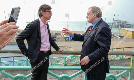 ITV Journalist Robert Preston interviews Labour Politician John Prescott