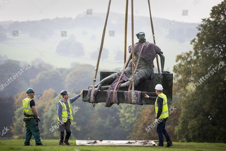 Henry Moore's sculpture Draped Seated Woman 1957, affectionately known as 'Old Flo' is being removed from the Yorkshire Sculpture park today after 20 years on public display at the park. The iconic sculpture was loaned to YSP by the London Borough of Tower Hamlets in 1997, after the Stifford Estate in Stepney where it had been located since 1962 was demolished. The sculpture will be returning to Tower Hamlets to be sited in a new home in Cabot Square, Canary Wharf. The return of the sculpture to London marks an end to a bitter political battle over Old Flo. In 2012 the disgraced former mayor of Tower Hamlets Lutfur Rahman, declared that it should be sold to raise £20m, that sparked protests & a court battle over who actually owned the sculpture. Tower Hamlets was confirmed as the legal owner in 2015.