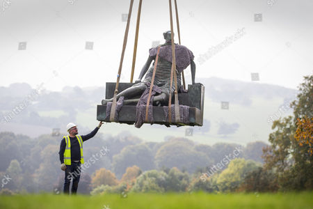 Editorial picture of Henry Moore's 'Old Flo' removed from Yorkshire Sculpture Park, UK - 26 Sep 2017