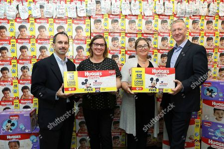 "Editorial photo of Babies""R""Us and Huggies National Diaper Bank Network Diaper Dona, New York, USA - 26 Sep 2017"