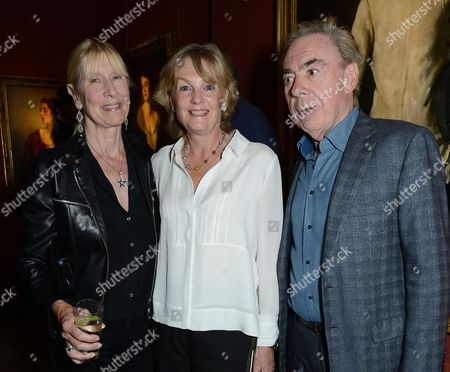 Lady Carina Fitzalan-Howard, Madeleine Gurdon and Sir Andrew Lloyd Webber