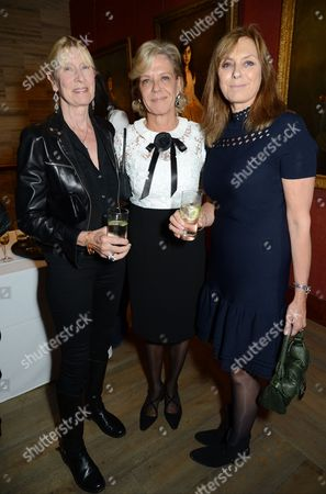 Stock Image of Lady Carina Fitzalan-Howard and Lady Marcia FitzAlan-Howard with guest