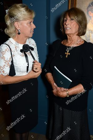Lady Marcia FitzAlan-Howard and Lady Annabel Goldsmith