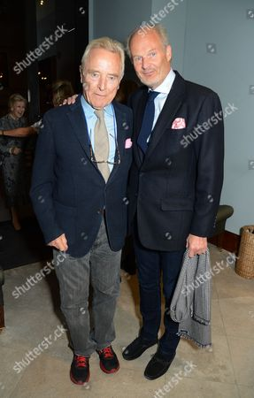 Harry Fane (L) with guest