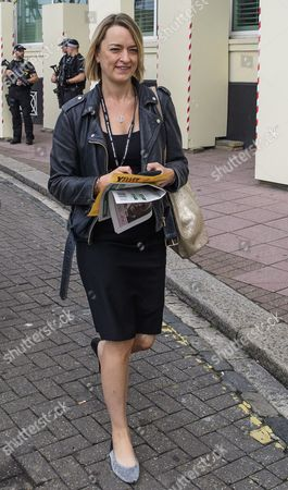 Laura Kuenssberg of the BBC seen at day 3 of the 2017 the Labour Party Conference, held at The Brighton Centre in East Sussex.