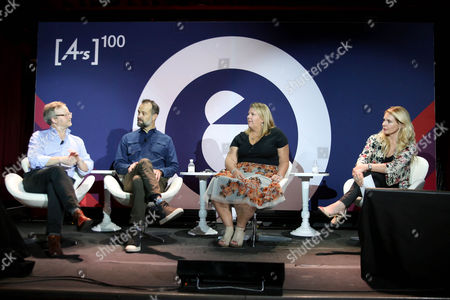 Stock Image of Franz Paasche (SVP, Corporate Affairs and Communications, PayPal), Michael Boychuk (Executive Creative Director, Amazon), Kathleen Hall (VP Corporate Brand, Advertising and Research, Microsoft), Brooke Hovey (Chief Client Officer, Cohn and Wolfe)