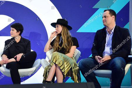 Mia Tramz (Managing Editor, LIFE VR), Molly DeWolf Swenson (Head of Brand and Co-Founder, RYOT), Greg Bond (SVP Commercial Partnerships, Blend Media)