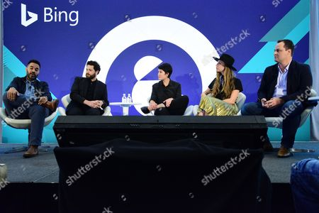 Editorial photo of Crafting Immersive Experiences: A New Language in Storytelling seminar, Advertising Week New York 2017, Bing Stage, Microsoft Technology Center, New York, USA - 28 Sep 2017