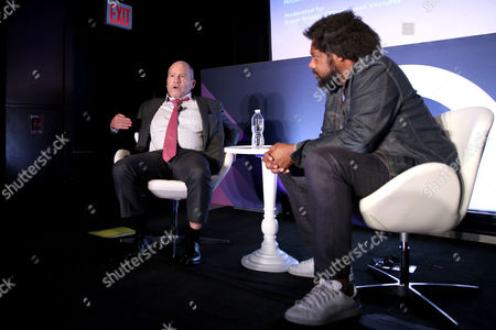 Stock Photo of Michael Loeb (Founder and CEO, Loeb Enterprises), B. Bonin Bough (Marketing Mogul & Host Cleveland Hustles)