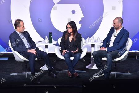 John Landgraf (CEO, FX Networks and FX Productions), Pamela Adlon (Executive Producer, Writer, Director and Star Better Things on FXs Better Things) and Joe Marchese (President of Advertising Revenue, Fox Networks Group)