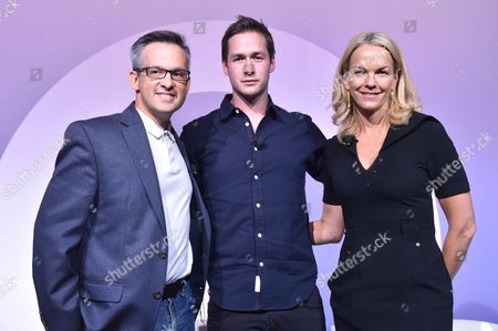 Stock Image of Andrew Wallenstein (Co-Editor-in-Chief, Variety.com), Nick Bell (VP, Content, Snap Inc) and Elisabeth Murdoch (Founder & Chair, Vertical Networks)